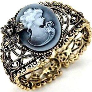 Queen Cameo Vintage Cuff Bracelet Jewelry